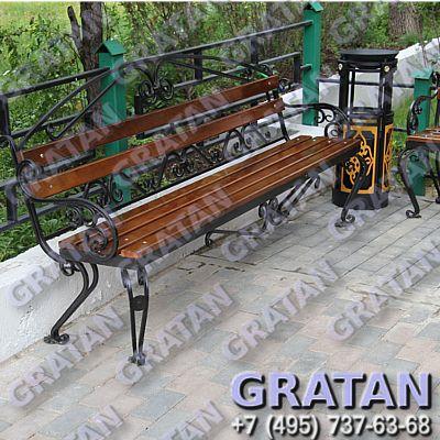 Купить Кованая скамейка ВА недорого