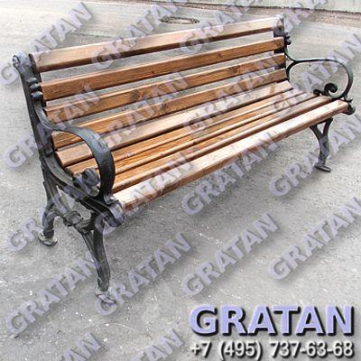 Купить Чугунная скамейка СЧ-3 недорого