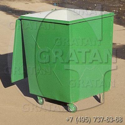 Купить Мусорный контейнер с крышкой БК-0,75 УСИЛЕННЫЙ недорого