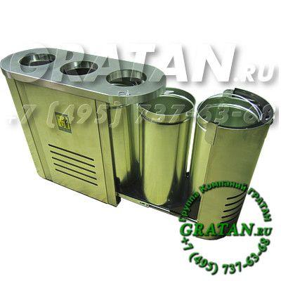 Купить Урна для раздельного сбора мусора АВР-3 недорого