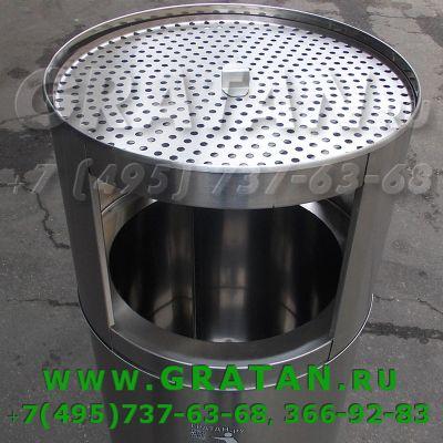 Купить Урна пепельница 135 литров (нержавейка) недорого