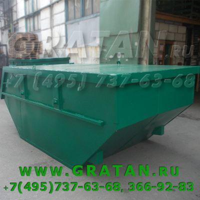 Купить Бункер для мусора с крышкой БН-8 стандарт (дно 3мм, стенки 2мм) недорого