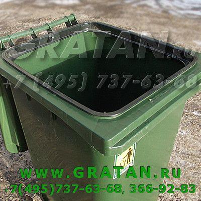Купить Мусорный контейнер 240 л с педалью недорого